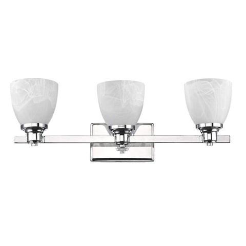 "SOLBI Contemporary 4 Light  Bath Vanity Wall Fixture White Alabaster Glass 33"" Wide"