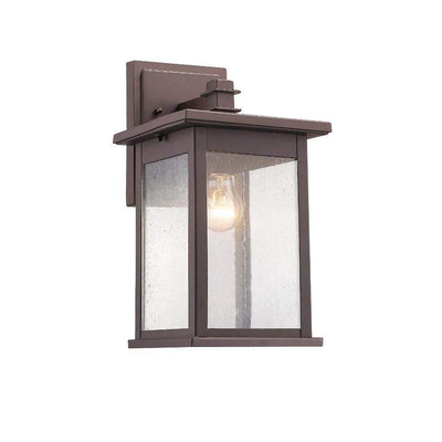 "Tristan Transitional 1 Light Rubbed Bronze Outdoor Wall Sconce 14"" Height"