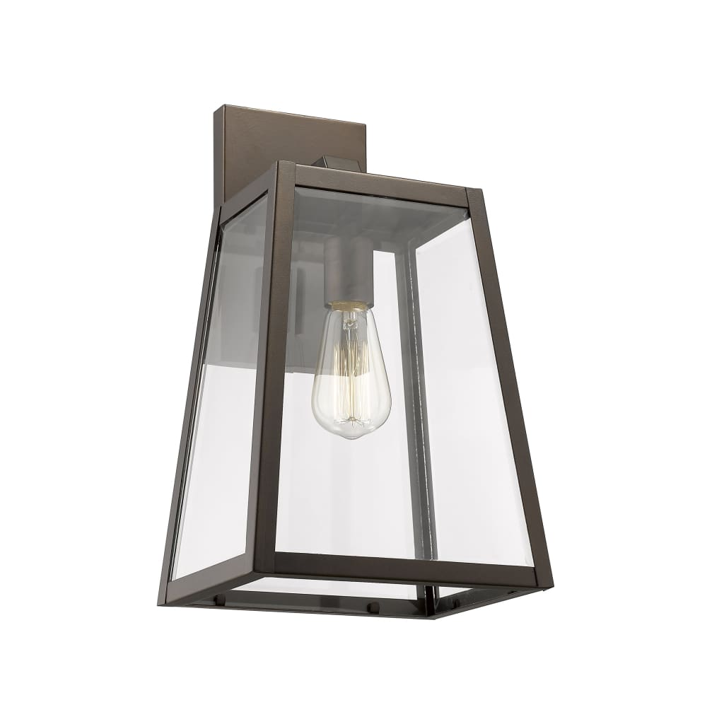 """Lighting XANDRA Industrial 1 Light Rubbed Bronze Outdoor Wall Sconce 16"""" Tall By Chloe Lighting"""