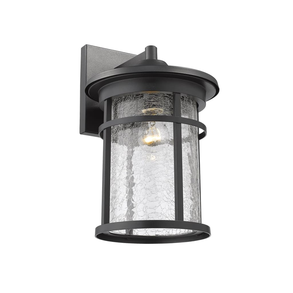 """Lighting FINLEY Industrial 1 Light Textured Black Outdoor Wall Sconce 14"""" Tall By Chloe Lighting"""