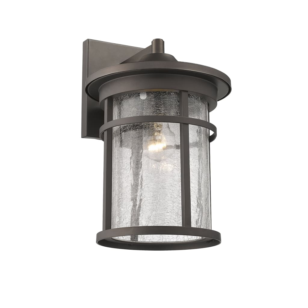 """Lighting FINLEY Industrial 1 Light Rubbed Bronze Outdoor Wall Sconce 14"""" Tall By Chloe Lighting"""