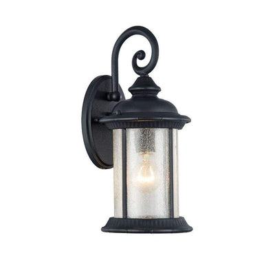 "Feiss, Transitional 1 Light Black Outdoor Wall Sconce 15"" Height"