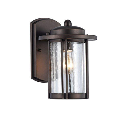 "Dolan, Transitional 1 Light Rubbed Bronze Outdoor Wall Sconce 11"" Height"