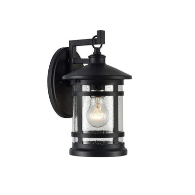 "Abbington Transitional Black 1 Light Outdoor Wall Sconce 11"" Tall"