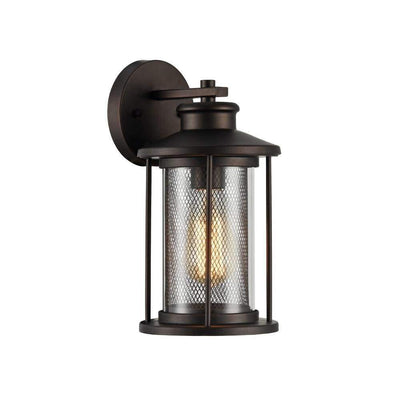 "Crichton Transitional Bronze 1 Light Outdoor Wall Sconce 11"" Tall"