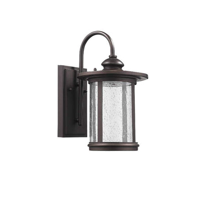 "Cole Transitional Led Rubbed Bronze Outdoor Wall Sconce 13""Height"