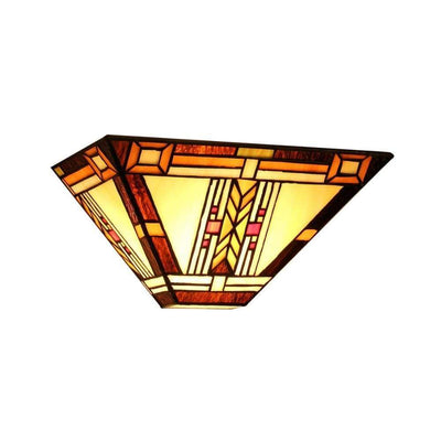"GODETiffany-style 1 Light Mission Wall Sconce 12"" Wide"