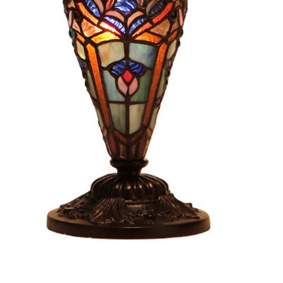 SADIE Tiffany-style 3 Light Victorian Double Lit Table Lamp 18 Shade CHL-CH33473BV18-DT3