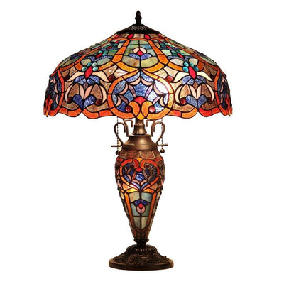SADIETiffany-style 3 Light Victorian Double Lit Table Lamp 18 Shade CHL-CH33473BV18-DT3