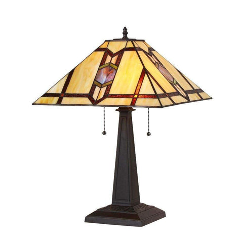 Abelie Table Lamp with Hammered Nail Design Fabric Shade