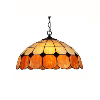 "EILEEN Tiffany-style 2 Light Ceiling Pendant Fixture 18"" Shade"