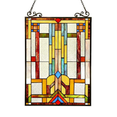 Huszar Tiffany-Glass Window Panel 17.5X25