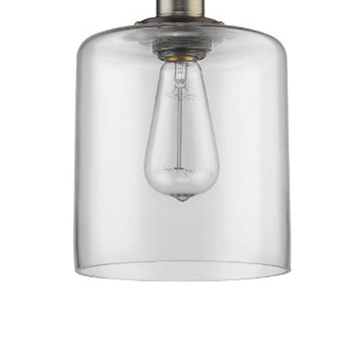 Ironclad Industrial-Style 1 Light Rubbed Bronze Ceiling Mini Pendant 7 Shade - CH58013CL07-DP1 CHL-CH58013CL07-DP1
