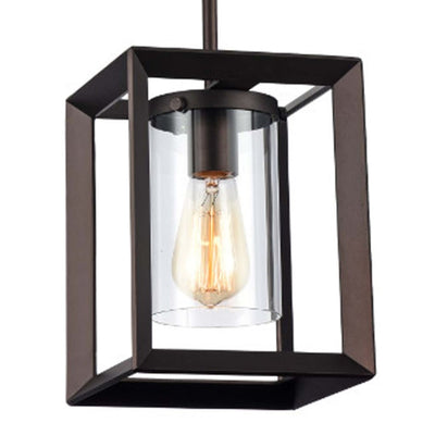 Ironclad Industrial Style 1 Light Rubbed Bronze Ceiling Mini Pendant 7 Shade CHL-CH58056RB07-DP1