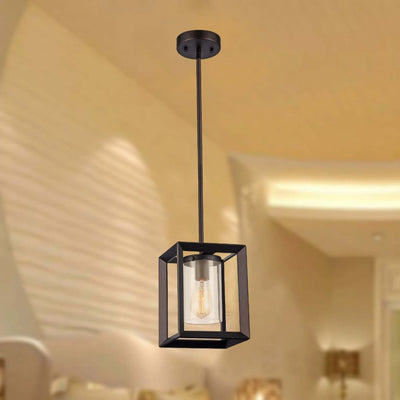 "Ironclad, Industrial Style 1 Light Rubbed Bronze Ceiling Mini Pendant 7"" Shade"