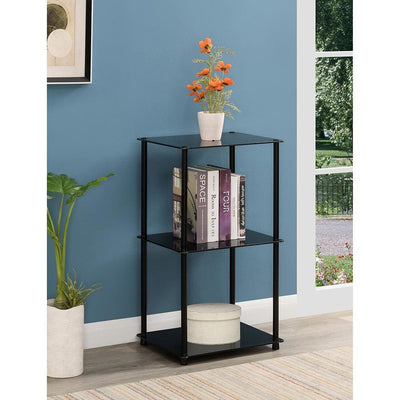 Designs2Go Classic Glass Tall 3 Tier End Table - R2-226