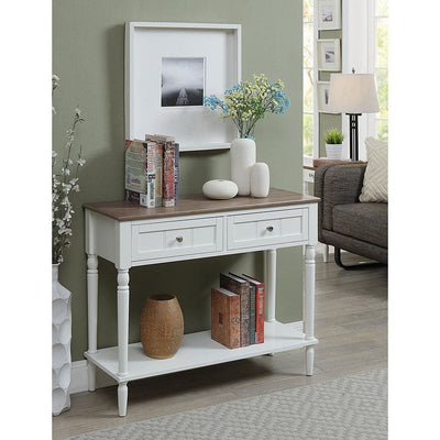 French Country Two Drawer Hall Table - R3-0195