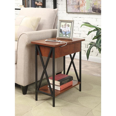 Tucson Flip Top End Table with Charging Station - R4-0168