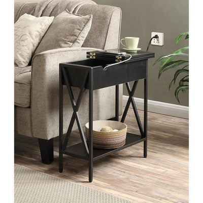 Tucson Flip Top End Table with Charging Station - R4-0186