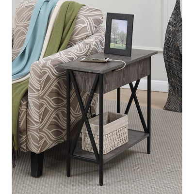 Tucson Flip Top End Table with Charging Station - R4-0236