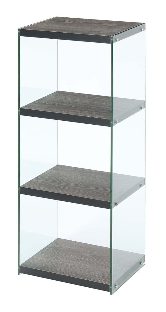 SoHo 4 Tier Tower Bookcase - CVC-R4-0375 By Convenience Concepts