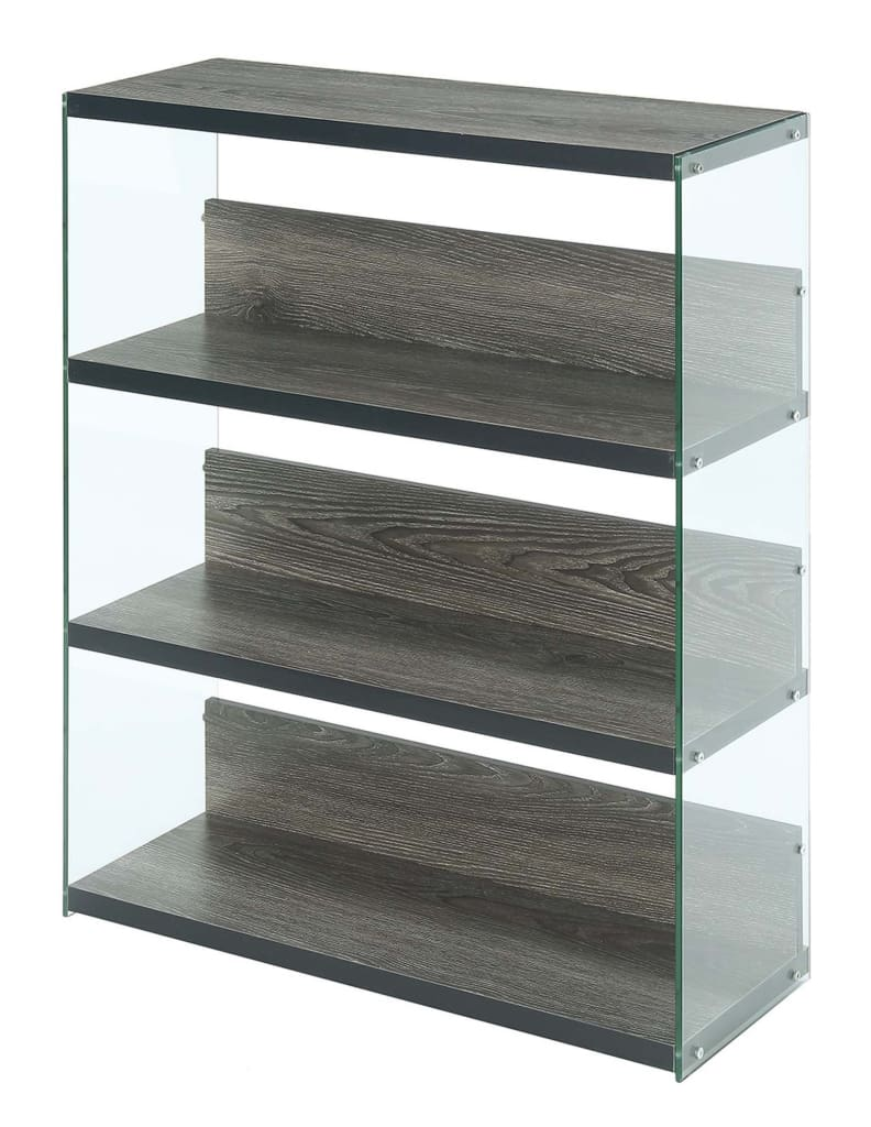 SoHo 4 Tier Wide Bookcase - CVC-R4-0377 By Convenience Concepts