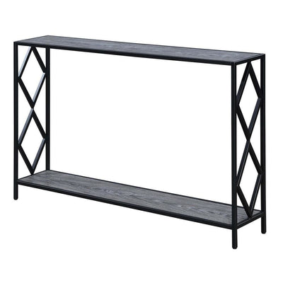 Diamond Metal Console Table - R4-0403 By Casagear Home CVC-R4-0403