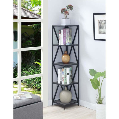 Tucson Metal 5 Tier Corner Bookcase - R4-0441