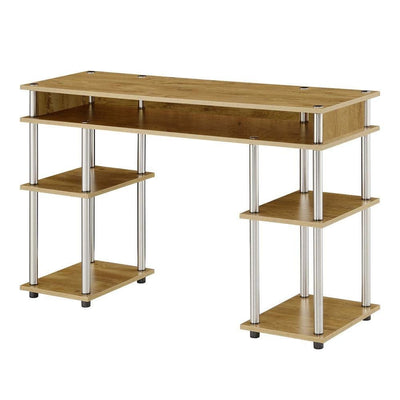 Designs2Go No Tools Student Desk with Shelves - CVC-R4-0541 By Casagear Home