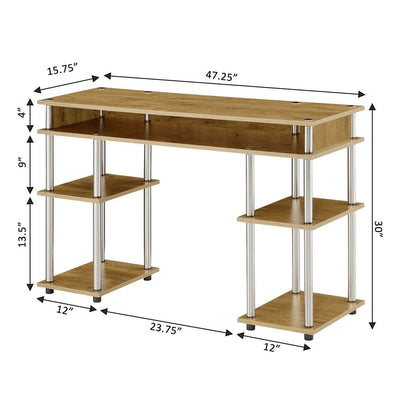 Designs2Go No Tools Student Desk with Shelves - CVC-R4-0541 By Casagear Home CVC-R4-0541