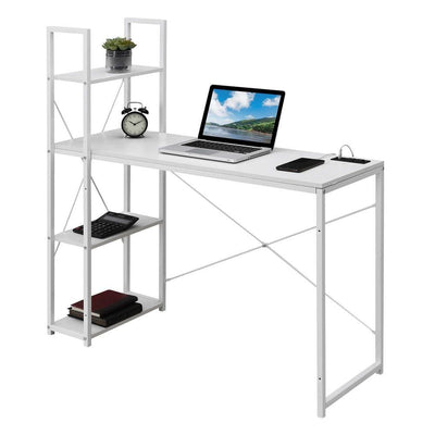 Designs2Go Office Workstation with Charging Station and Shelves - CVC-R4-0559 By Casagear Home CVC-R4-0559