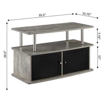 Designs2Go TV Stand with 2 Storage Cabinets and Shelf - CVC-R5-261 By Casagear Home CVC-R5-261