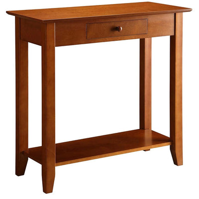 American Heritage Hall Table with Drawer and Shelf - R6-174