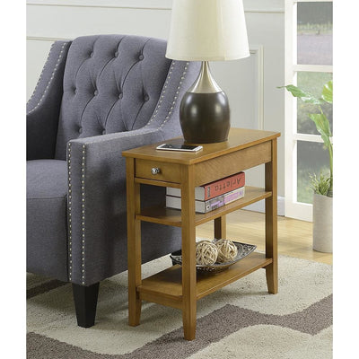 American Heritage Three Tier End Table with Drawer - R6-230