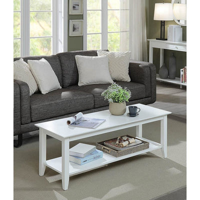 American Heritage Coffee Table with Shelf - R6-281