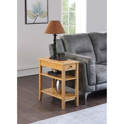 American Heritage Three Tier End Table With Drawer - R6-352