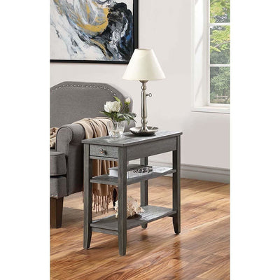 American Heritage Three Tier End Table with Drawer - R6-353