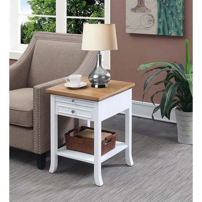 American Heritage Logan End Table with Drawer and Slide - R6-359
