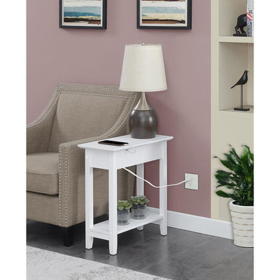 American Heritage Flip Top End Table with Charging Station - R6-374