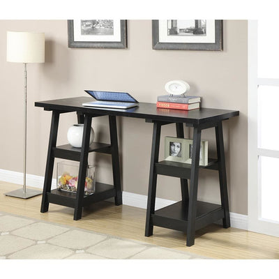 Designs2Go Double Trestle Desk - R7-107