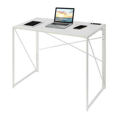 Xtra Folding Desk with Charging Station - CVC-R7-138 By Casagear Home CVC-R7-138