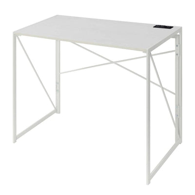 Xtra Folding Desk with Charging Station - CVC-R7-138 By Casagear Home