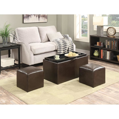 Designs4Comfort Sheridan Storage Bench w/2 Side Ottomans - R8-100