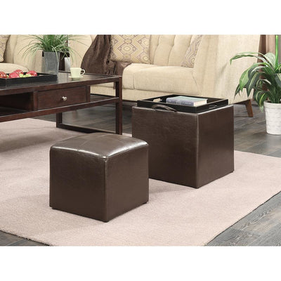 Designs4Comfort Park Avenue Single Ottoman with Stool - R8-103