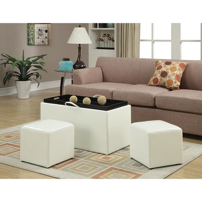 Designs4Comfort Sheridan Storage Bench w/2 Side Ottomans - R8-123