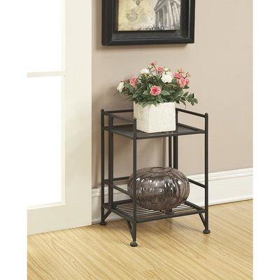 Xtra Storage 2 Tier Folding Metal Shelf - S10-101
