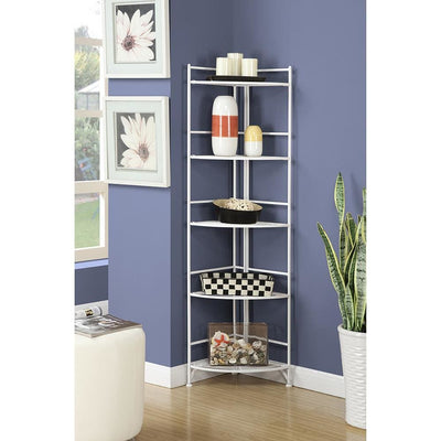 Xtra Storage 5 Tier Folding Metal Corner Shelf - S10-116