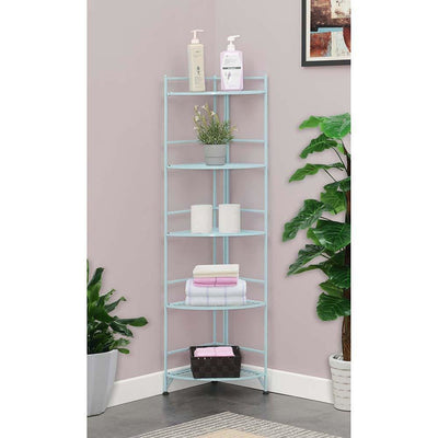 Xtra Storage 5 Tier Folding Metal Corner Shelf - S10-133