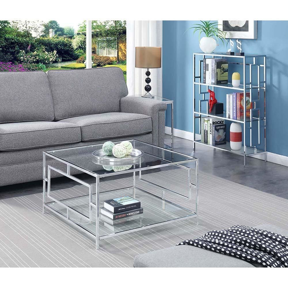 Town Square Chrome Square Coffee Table - S14-116