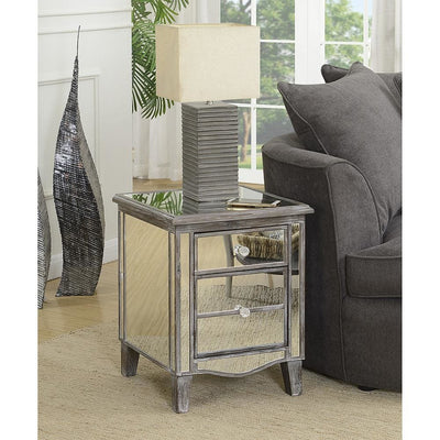 Gold Coast Park Lane Mirrored End Table - U12-137